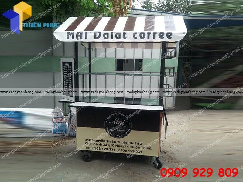 xe bán cà phê lưu động