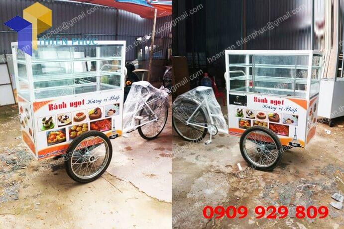 xe đạp bán gà rán