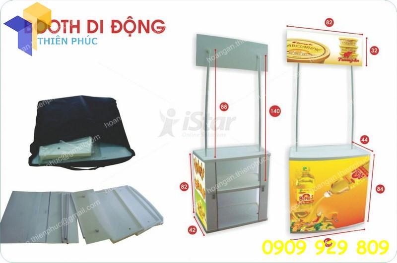 booth nhựa lắp ráp quảng cáo