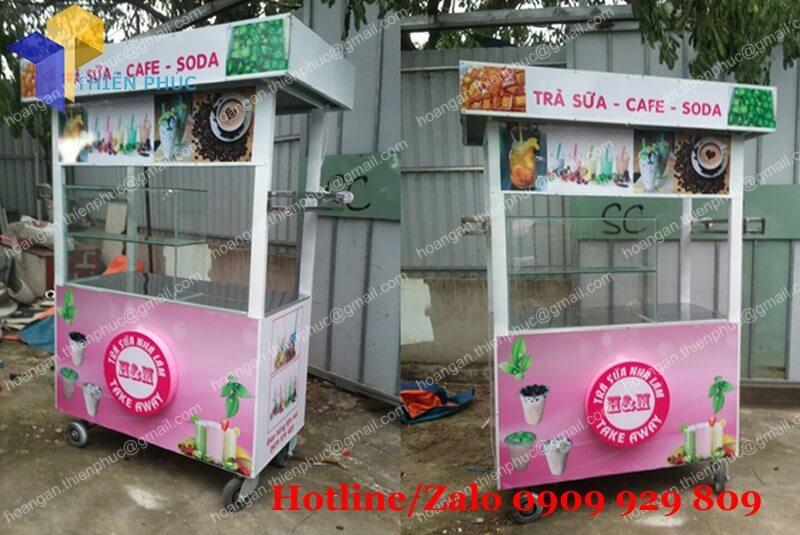 tủ bán trà sữa nhà làm
