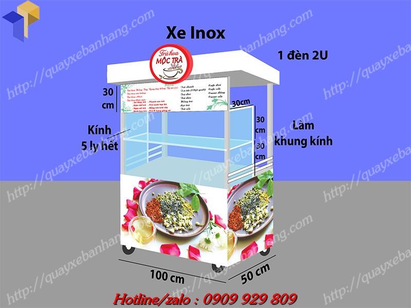 xe bán trà hoa giá rẻ