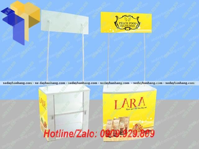 booth sampling nhựa bán hàng