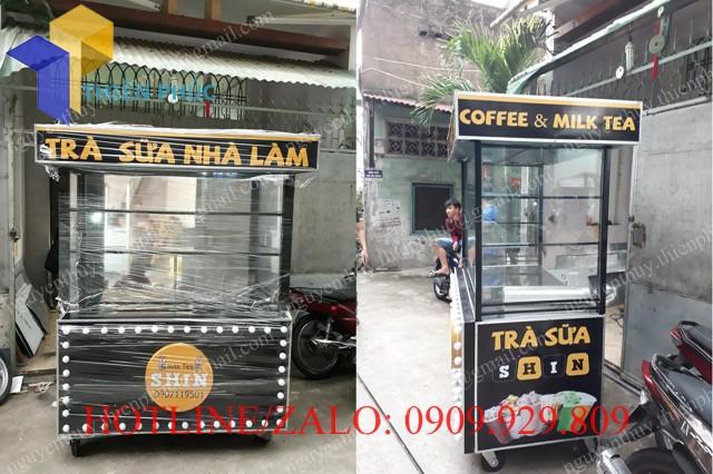 xe bán trà sữa nhà làm