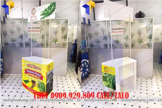 quầy booth sampling siêu thị