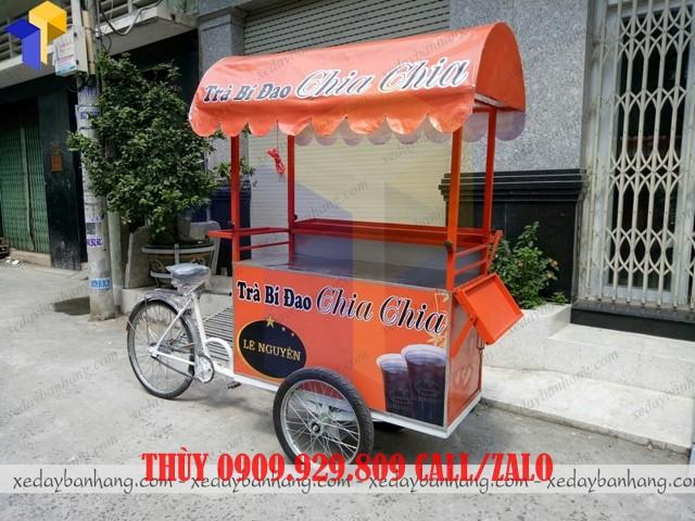 xe đạp bán trà bí đao