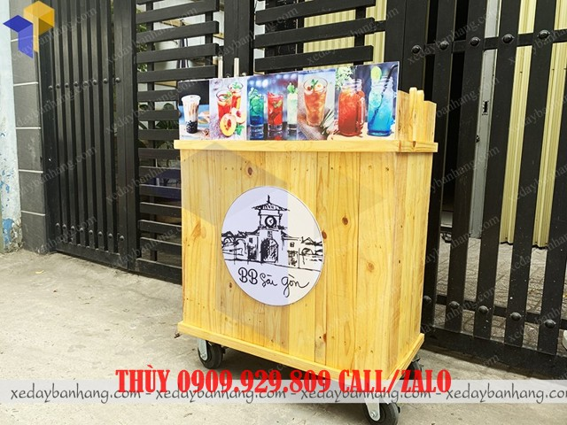 tủ gỗ bán cafe mang đi