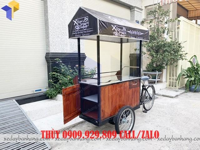 xe đạp bán cà phê đẹp