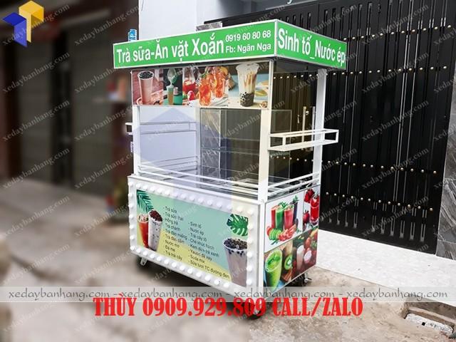 tủ bán trà sữa ăn vặt