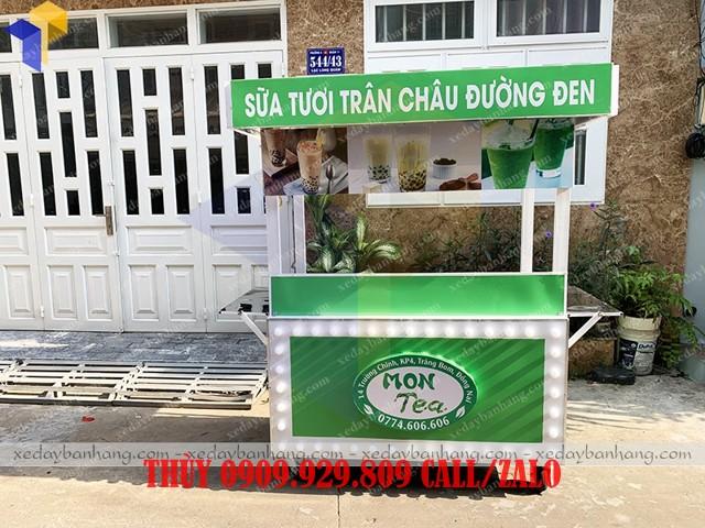 tủ bán sữa tươi trân châu đường đen