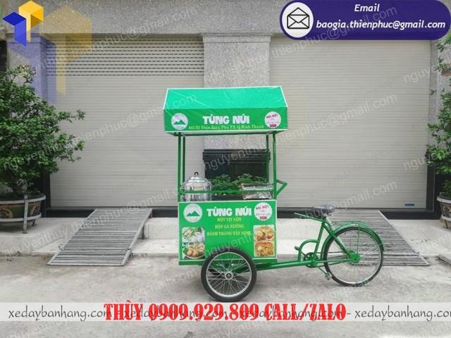 giá xe đạp bán đồ ăn vặt