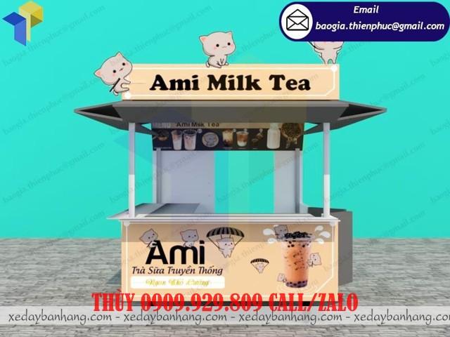 kiot đẹp bán trà sữa