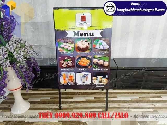 standee in menu quảng cáo