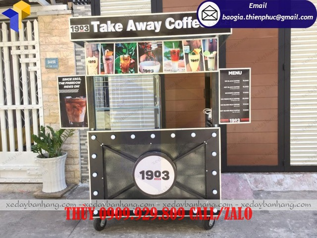 xe bán cà phê take away