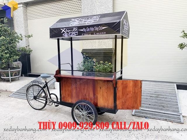 xe đạp bán cà phê mang đi